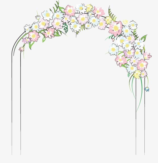 650x671 Wedding Flower Door, Flower Clipart, Wedding Vector, Flower Vector