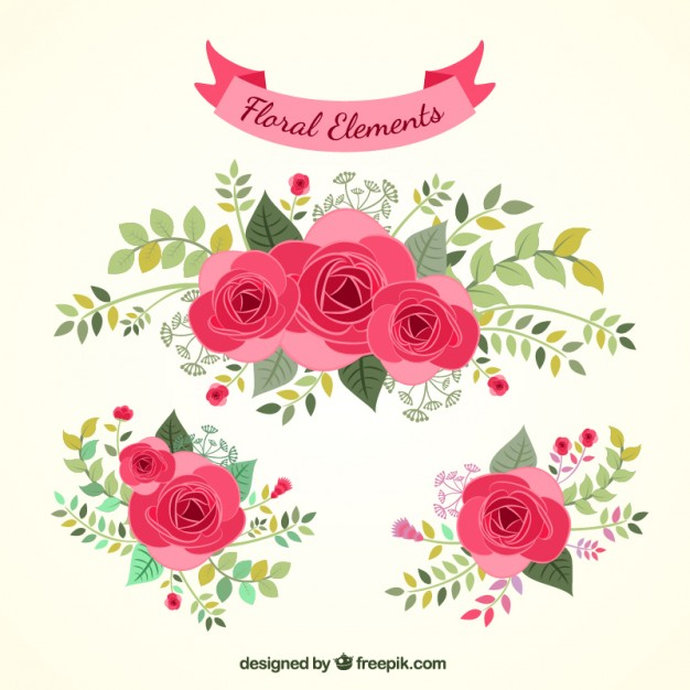 626x626 Hand Drawn Floral Elements Vector Free Download