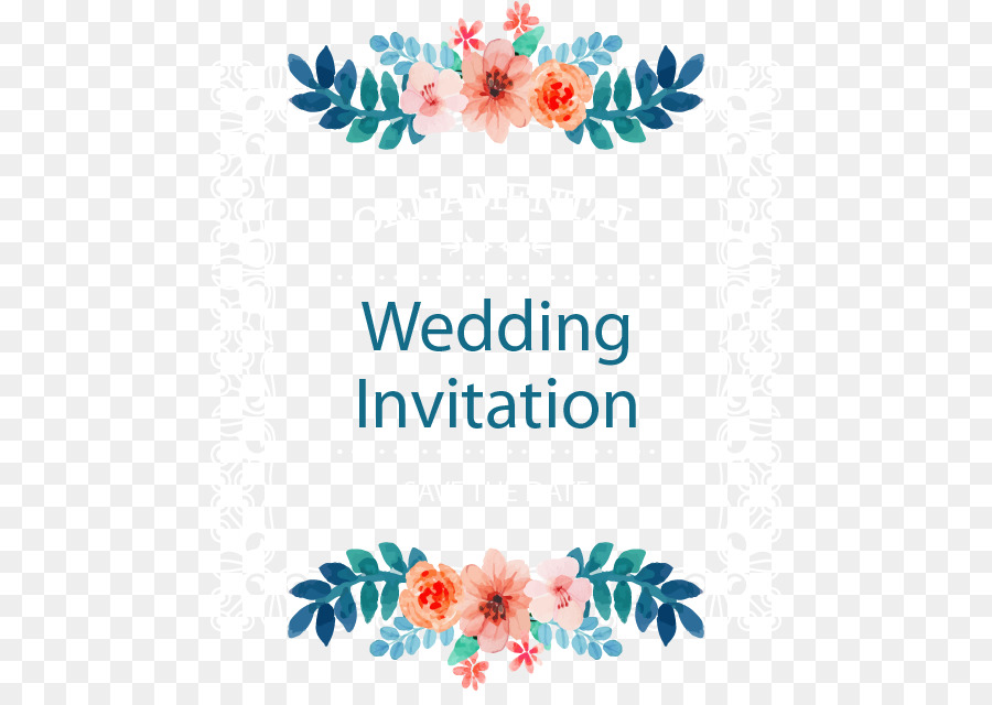900x640 Download Wedding Invitation Picture Frame Flower Vector Wedding