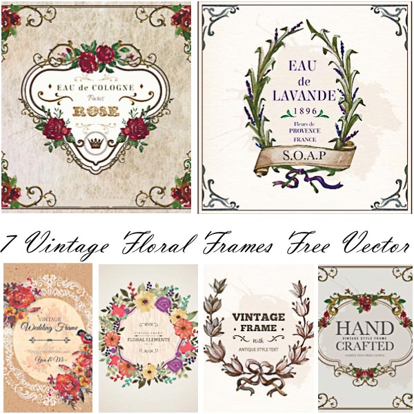 600x600 Ornamental Wedding Floral Frames Vector Free Download