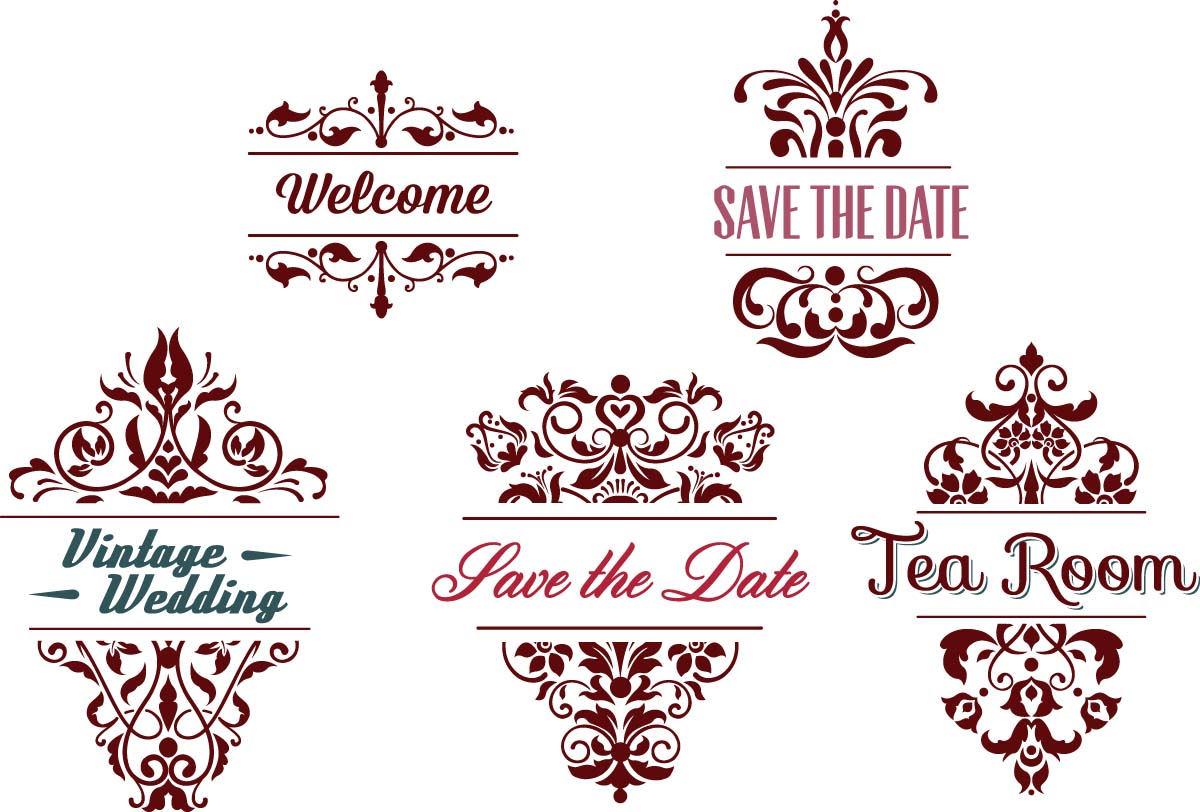1200x812 Ornamental Wedding Frames Vector Free Download