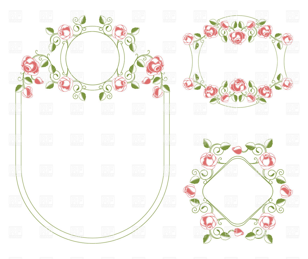 1200x1008 Romantic Floral Wedding Frames Vector Image Vector Artwork Of