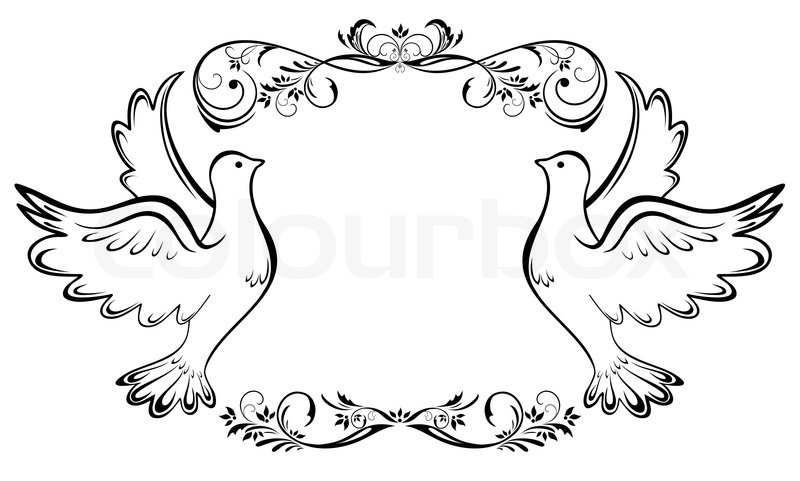 800x481 Vintage Wedding Frame Stock Vector Colourbox
