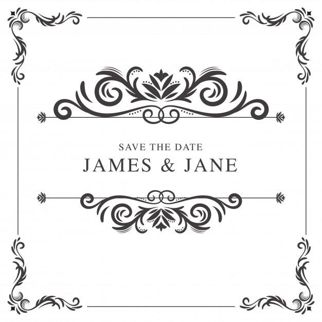 626x626 Vintage Wedding Frame Vector Free Download