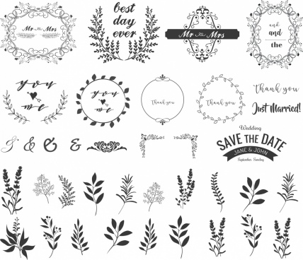 428x368 Vintage Wedding Frame Free Vector Download (12,575 Free Vector