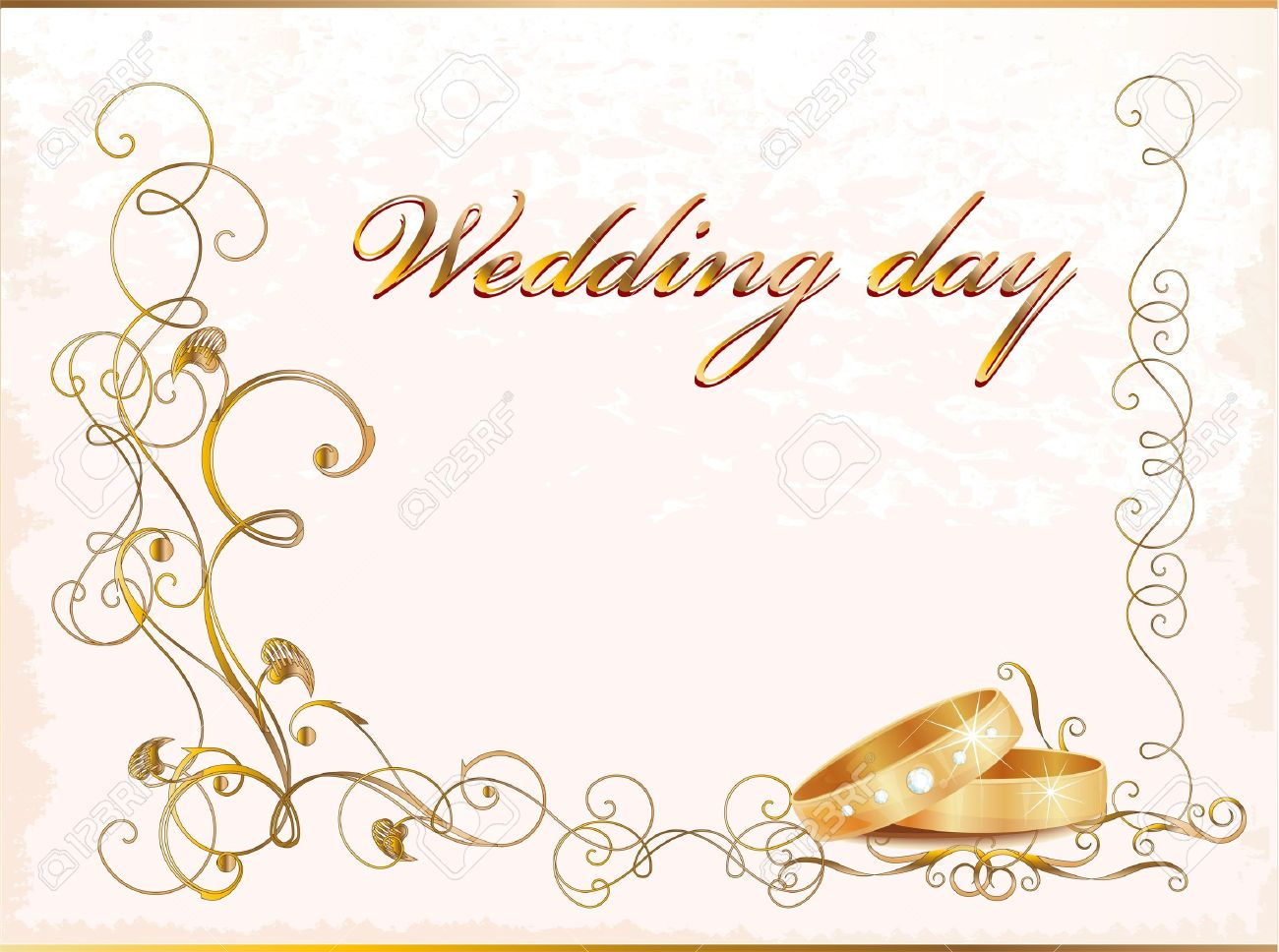 1300x968 Wedding Card Frame Vector Unique Vintage Wedding Card With Rings