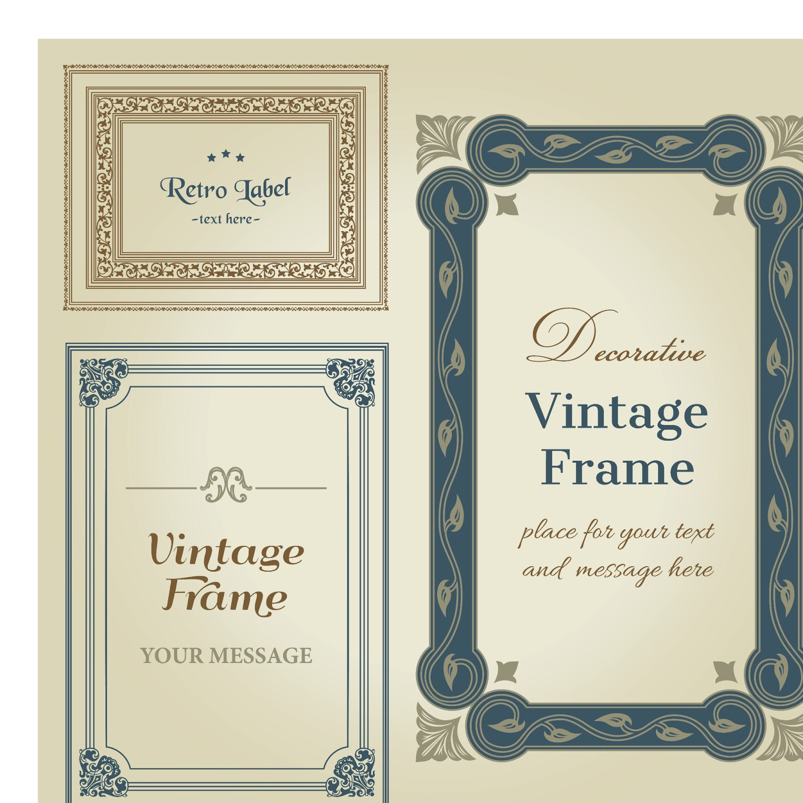 1600x1600 Decorative Vintage Wedding Frame Vector Wedding Card Background