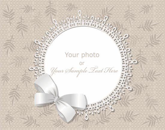 550x432 Wedding Frame Vector