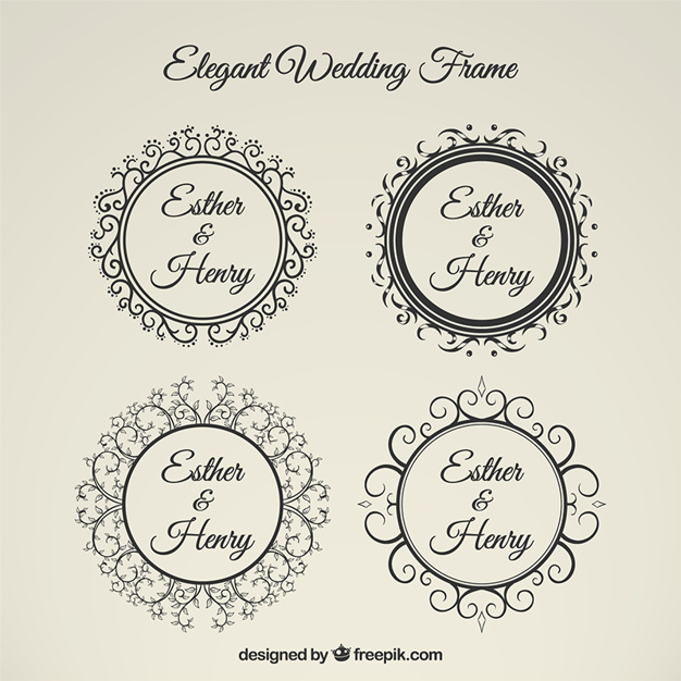 626x626 Elegant Wedding Frame Vector Premium Download
