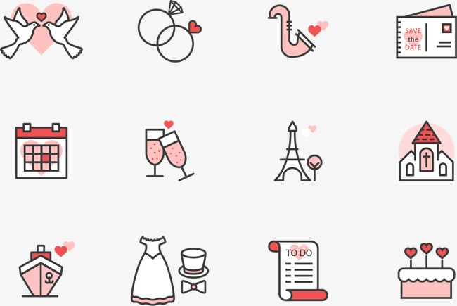 650x435 Vector Wedding Icon, Wedding Clipart, Wedding Icons, Wedding Png