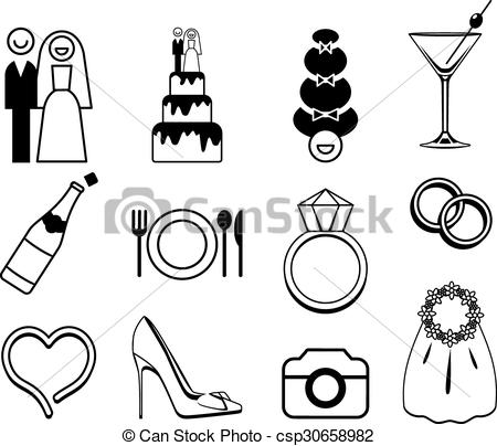 450x404 Vector Wedding Icons Set . Vector Wedding Icons Set. May Be Used