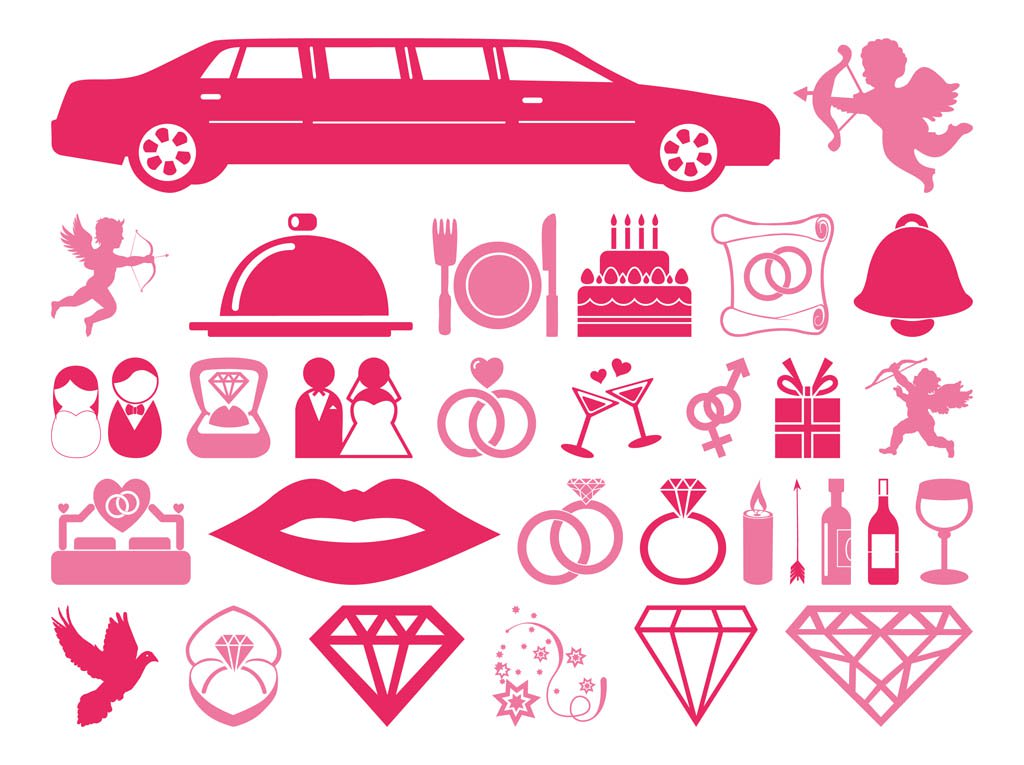 1024x765 Wedding And Love Icons Vector Art Amp Graphics