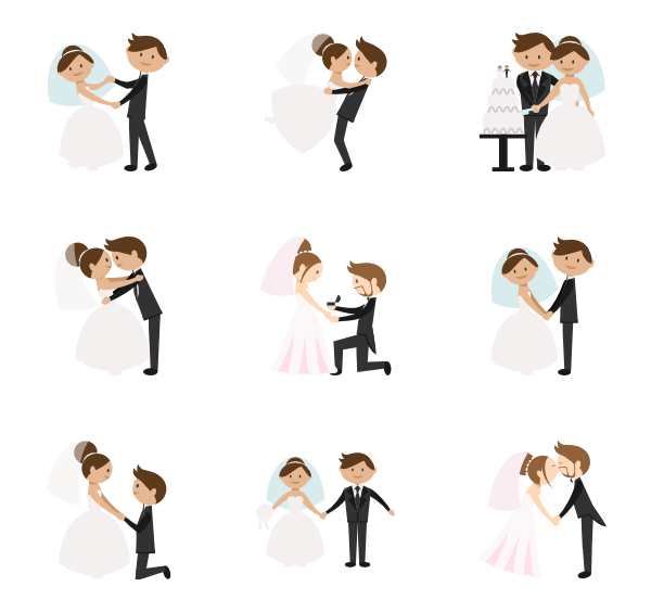 600x564 Wedding Icons