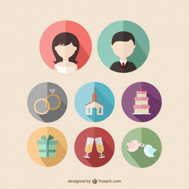 626x626 Wedding Icons Vector Free Download