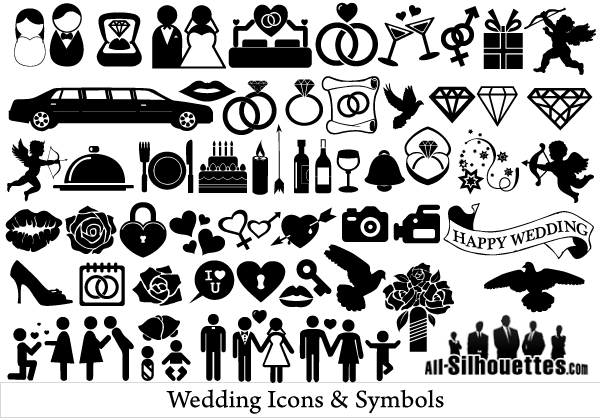 600x418 Free Vector Wedding Icons And Symbols Free Vectors