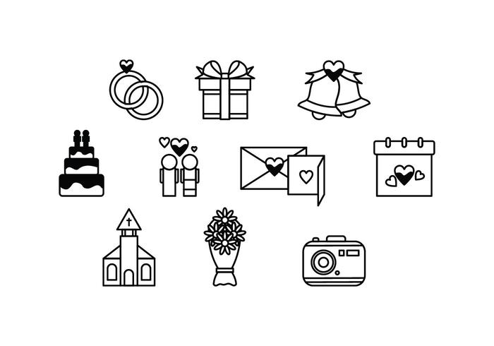 700x490 Free Wedding Icon Vector