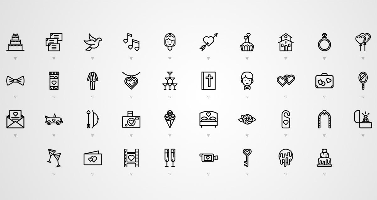 1200x638 Free Wedding Icons For Your Design Projects Naldz Graphics