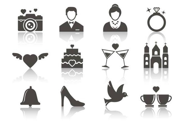 632x443 Free Wedding Icons Vector Free Vector Download 374695 Cannypic