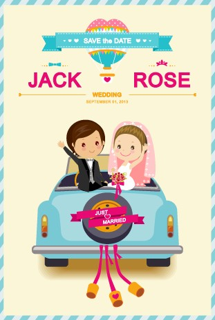 311x464 Cute Wedding Invitation Collection Vector Free Download Cards