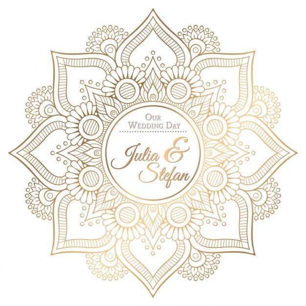 626x626 Ornamental Mandala Wedding Invitation Vector Free Download