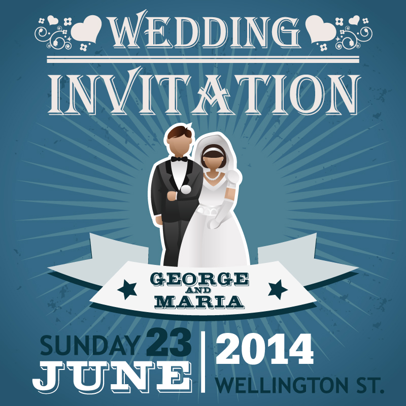 800x800 2014 Wedding Invitation Vector Free Download Free Vector Graphic