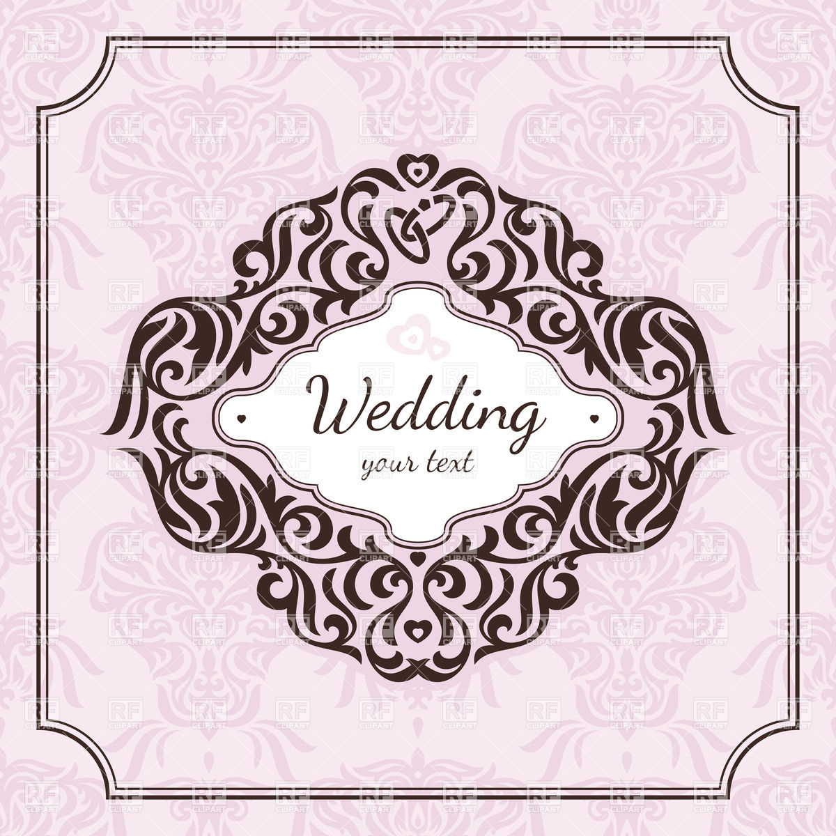 1200x1200 Wedding Card Border Vector Free Download Luxury Vintage Floral