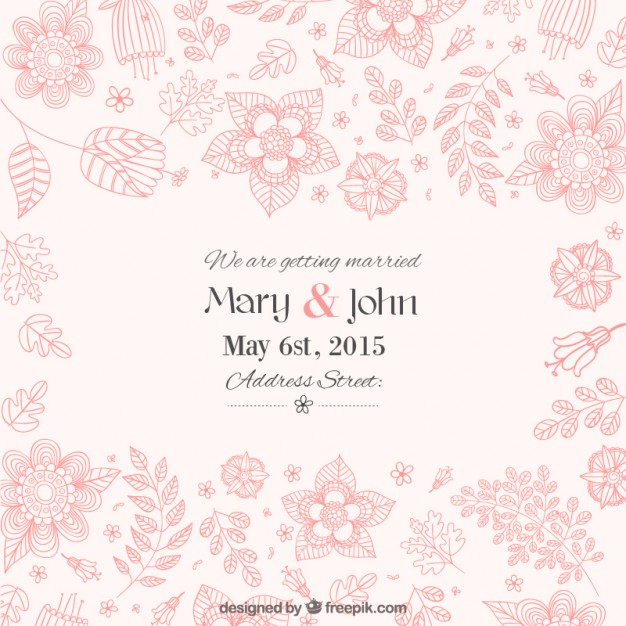 Wedding Invitation Vector Free Download At GetDrawings