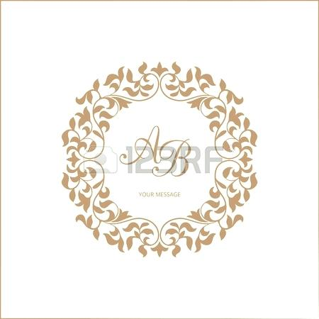 450x450 Elegant Floral Monogram Design Template For One Or Two Letters