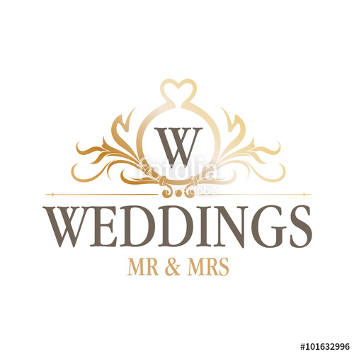 500x500 Luxury Wedding Logo Stock Image And Royalty Free Vector Files On