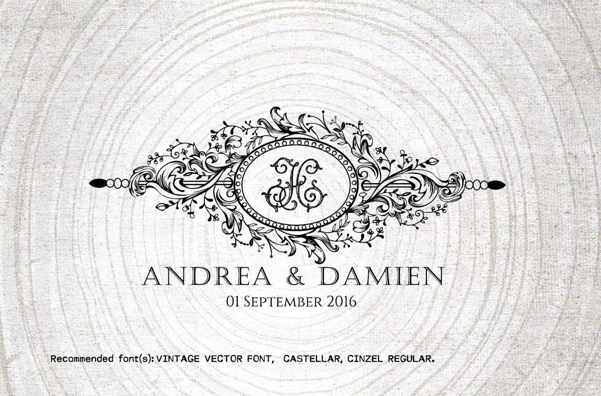 1170x772 Vintage Wedding Monogram Wedding Logo By Linvit