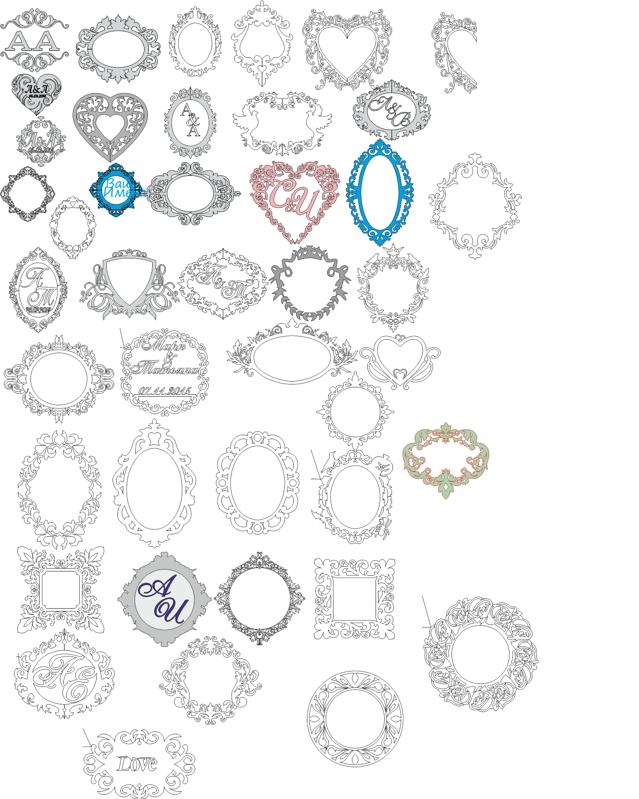 639x799 Wedding Monogram Vector Art Collection Free Vector Download