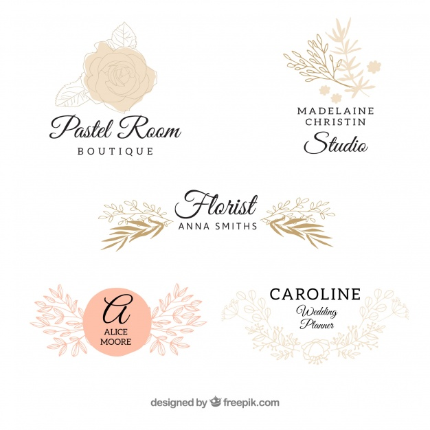 626x626 Wedding Logo Collection Vector Free Download