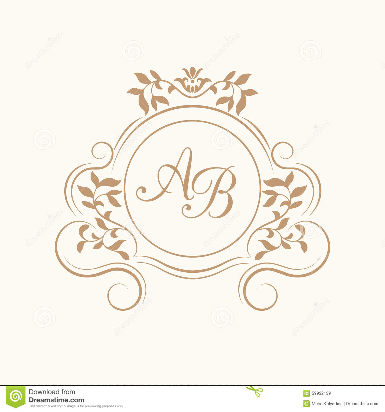 Wedding Monogram Vector