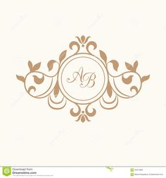 236x252 Set Of Elegant Floral Monogram Design Templates. Wedding Monogram