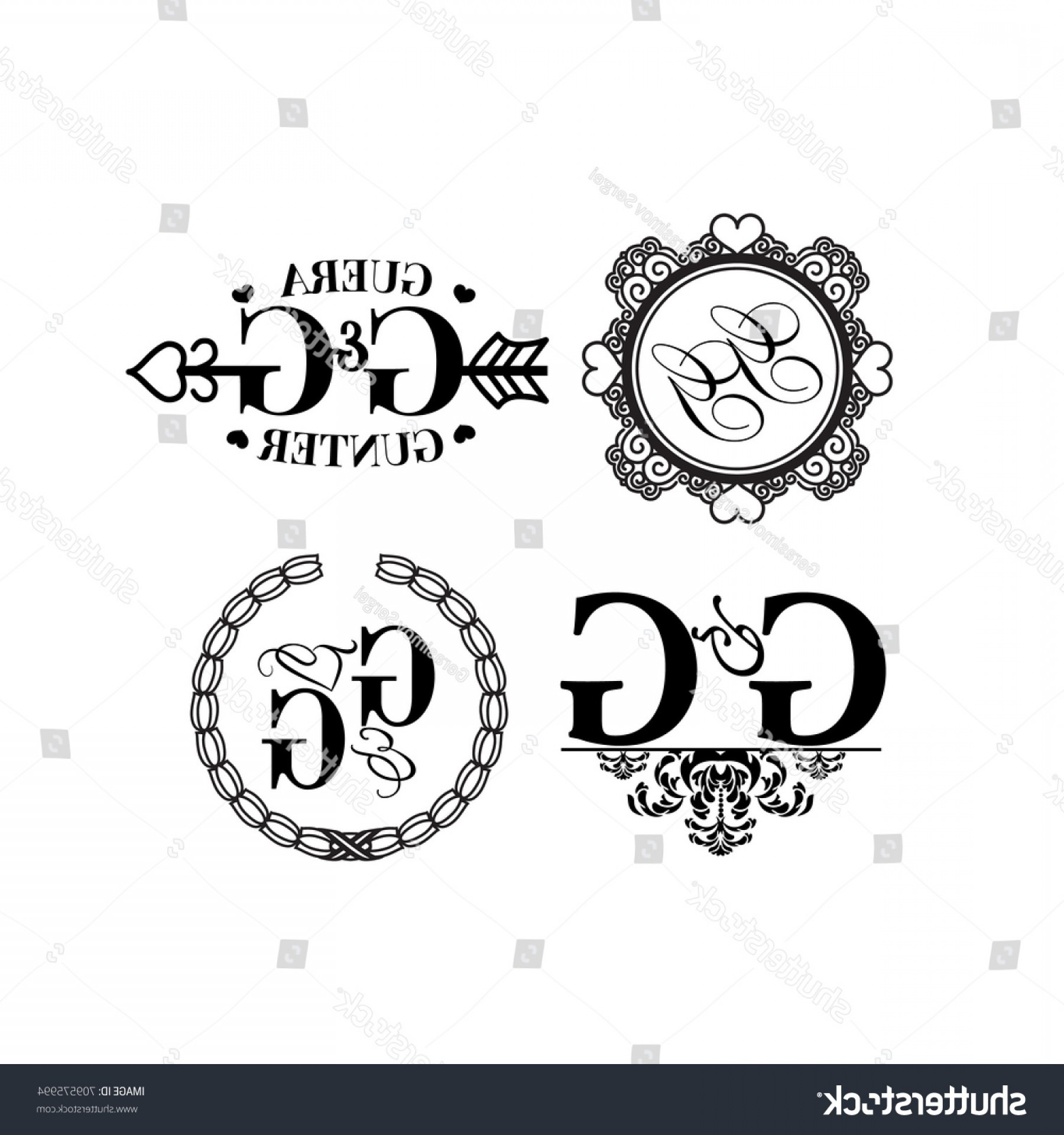 1800x1920 Vector Illustration Wedding Monogram Logo Collection Lazttweet