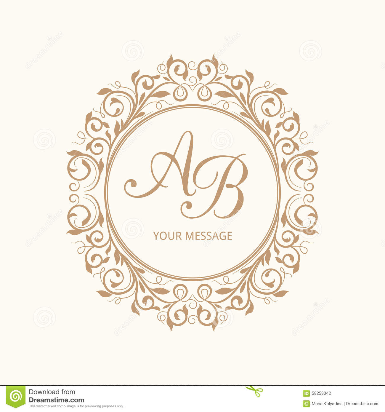 1300x1390 28 Images Of Monogram Blank Template Vector