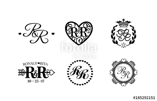 500x323 Wedding Monogram Collection. Vector Illustration. Stock Image And