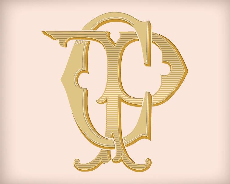 756x605 Cp Pc D4 Digital Download Victorian Wedding Monogram Vector