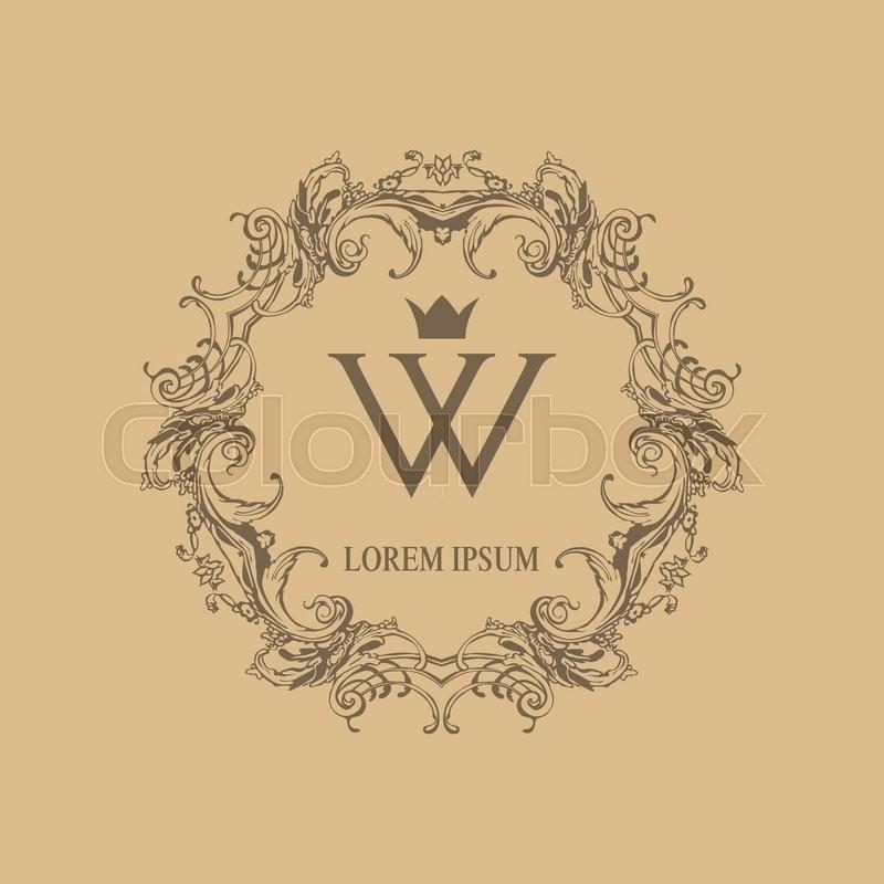 800x800 Calligraphic Elegant Floral Monogram Design Templates For One Or