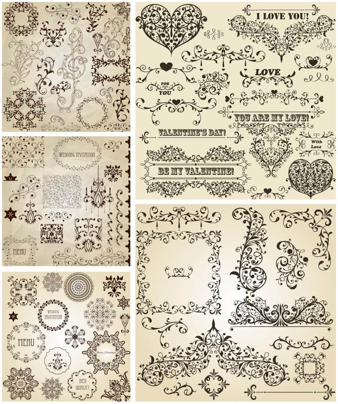 669x800 Romantic Floral Ornaments Vector Vector Graphics Blog