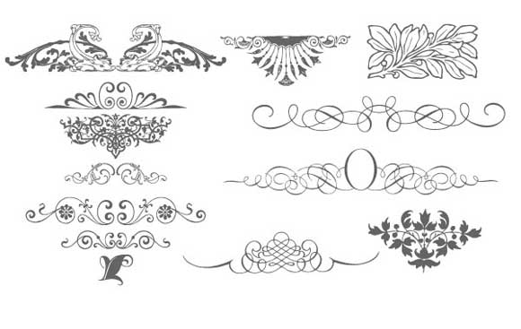 580x367 34 Beautiful Free Vector Ornament Patterns
