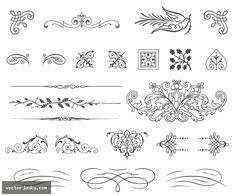 236x196 Calligraphic Ornaments Vector Artsy Ornament