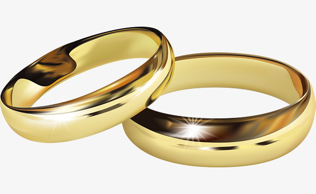 650x400 Golden Wedding Ring Vector, Wedding Clipart, Golden Wedding Ring