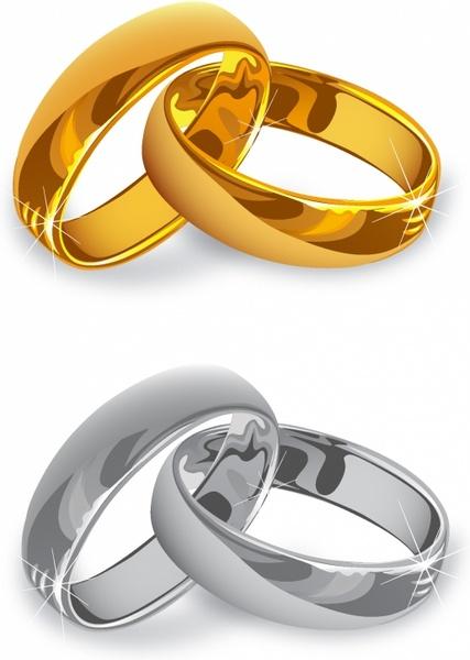 427x600 Wedding Rings Free Vector In Adobe Illustrator Ai ( .ai
