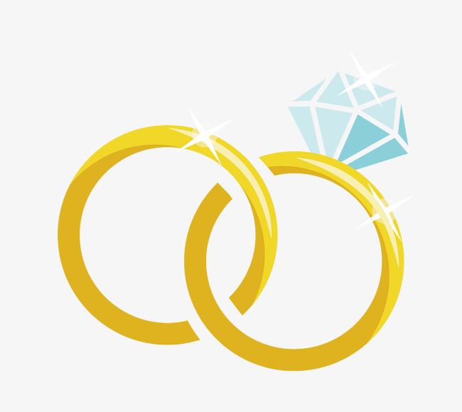 650x580 Cartoon Vector Material Diamond Wedding Ring, Ring, Vector