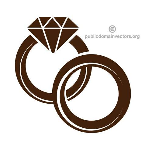 500x500 Wedding Rings Vector Graphics Public Domain Vectors