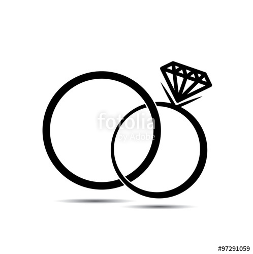 498x500 Wedding Rings Vector Icon For Background Stock Image And Royalty