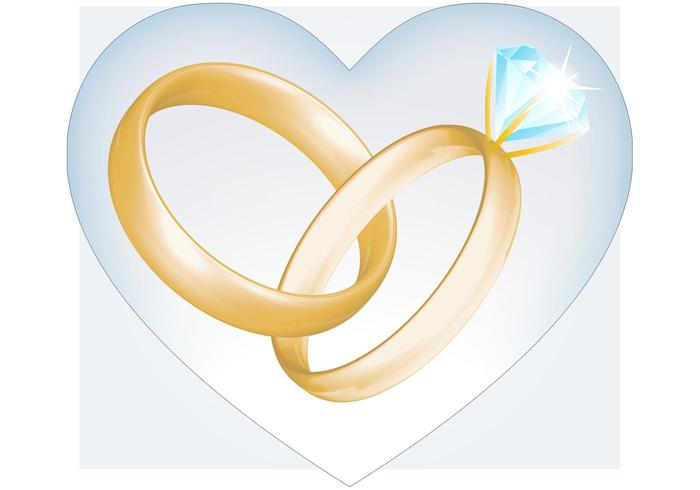 700x490 Wedding Rings Vector Free Vector Art