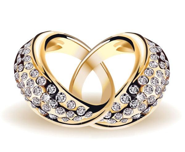 600x495 Dazzling Diamond Wedding Ring Vector Material My Free