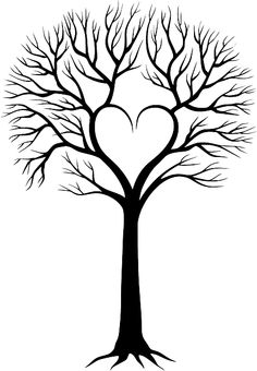 236x340 Heart Wedding Tree Digital Clipart, Wedding Invitation, Guest Book